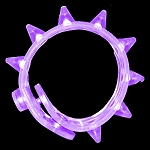 Flashing Spike Bracelet - Purple