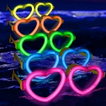 Glow Heart Shaped Glasses- 12 Pack