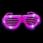 Pink LED Shutter Glasses