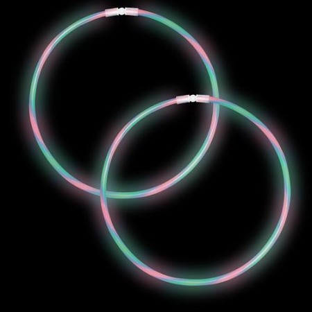 "22"" Swirl Glow Necklaces - Red/Green/Blue (50-Pack)"