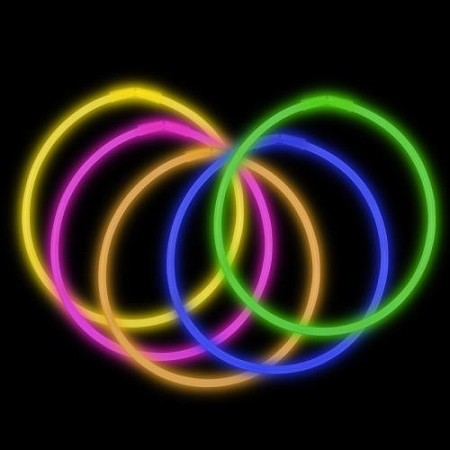 "Assorted 22"" Glow Necklaces - Premium (50-Pack)"