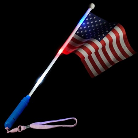 Flashing American Flag Wand