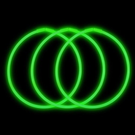 "Green 22"" Glow Necklaces - Premium (50-Pack)"