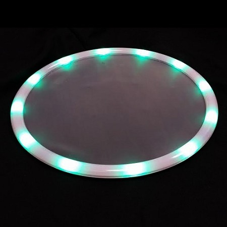 "Light Up 14"" Green LED Tray"