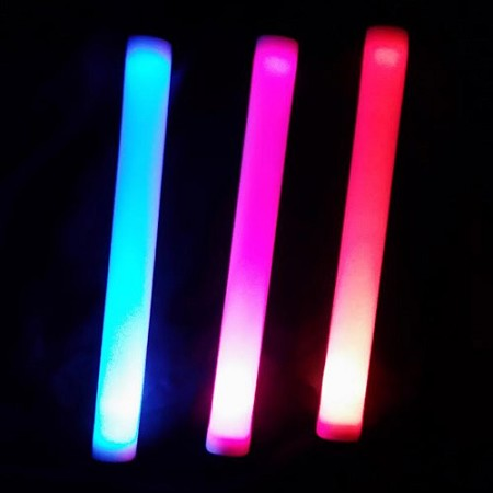 "16"" LED Flashing Foam Baton - Sound Activated"