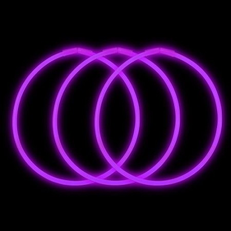 "Purple 22"" Glow Necklaces - Premium (50-Pack)"