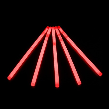 Glow Swizzle Stir Stick: Red (100-Pack)