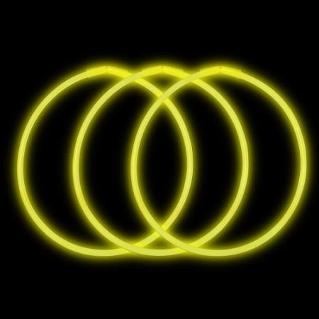 "Yellow 22"" Glow Necklaces - Premium (50-Pack)"