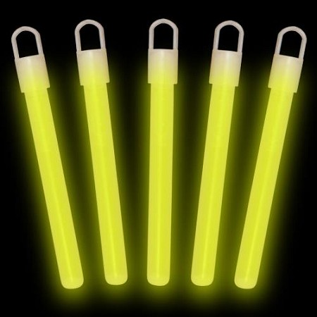 "Yellow 4"" Glow Sticks (50-Pack)"